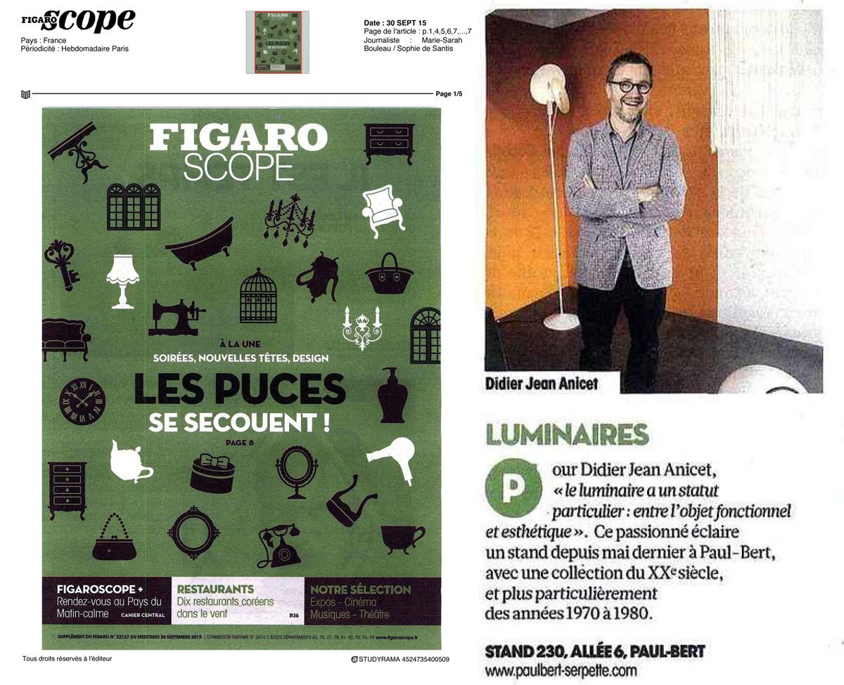 Le Figaroscope, 30 septembre 2015