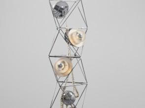Felice Ragazzo, lampadaire Poliedra, éditions DHGuzzini