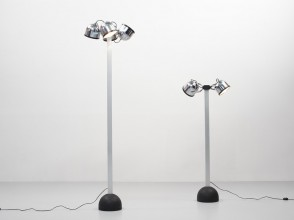 Gae Aulenti et Livio Castiglioni, lampadaires Sistema Trepiu, Stilnovo éditions