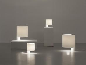 Giuliana Gramigna, lampes de table modèles Flu et Fuette, éditions Quattrifolio