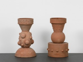Folly flowerpots by Dan Friedman for Alessio Sarri Ceramiche