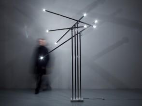 Sergio Moscheni, lampadaire Giraffa, éditions Selenova