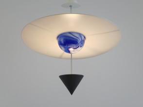 """Vico Magistretti, PIANETA """"Il Cielo"""" ceiling lamp, ed. Venini"""
